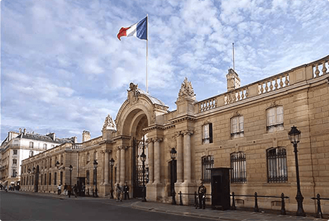 Entrance of The Elysee Palace